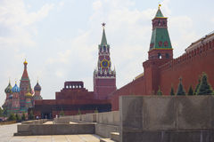 Towers Moscow Kremlin in solar weather Royalty Free Stock Photo