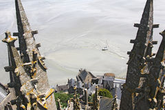 Towers Mountain Saint Michel Royalty Free Stock Photo