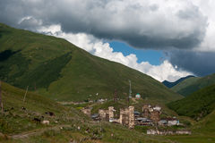 Towers in mountain village Stock Image