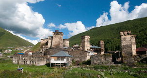 Towers in mountain village Stock Photography