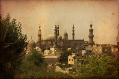 Minarets of Muslims Mosque,Cairo,Egypt Stock Photo