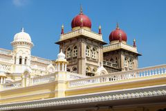 Towers of Mysore Palace with red domes, Mysore, India Stock Image