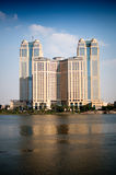 Towers and the nile Royalty Free Stock Image