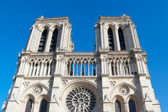 Towers of Notre Dame cathedral, Paris. Royalty Free Stock Photography