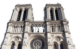 Towers of Notre Dame cathedral, Paris. Stock Image