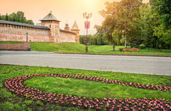 Towers of of the Novgorod Kremlin Royalty Free Stock Photography