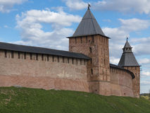 Towers of Novgorod Kremlin Stock Images