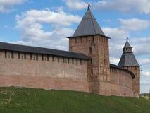 Towers of Novgorod Kremlin Stock Images