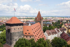 Towers in Nuremberg castle Royalty Free Stock Image