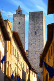 Towers Of Noble Citizens. San Gimignano, Italy Royalty Free Stock Images