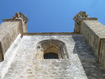 Towers. On an old church in south of Spain royalty free stock photo