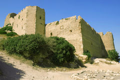 Old fortress wall. Towers of old fortress wall Royalty Free Stock Photo