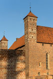 Towers of old Gothic medieval castle in Lidzbark Warminski Royalty Free Stock Images