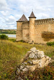 Towers of old Khotyn castle Royalty Free Stock Photo