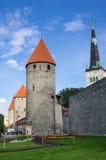 Towers of old Tallinn Stock Photo