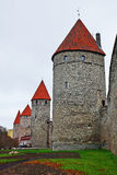 Towers of old Tallinn, Estonia, Europe Royalty Free Stock Images