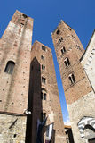 Medieval towers of Albenga Stock Photos
