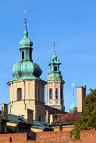 Towers of the Old Town Churches in Warsaw Royalty Free Stock Photo