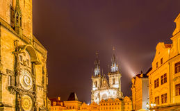 Towers at the old town square Royalty Free Stock Images