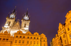 Towers at the old town square Stock Image