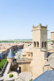 Towers in Olite Stock Image