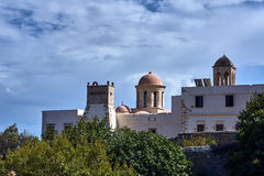Towers Orthodox monastery Royalty Free Stock Images