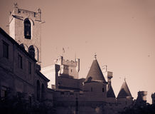 Towers of Palace of the Kings of Navarre at Olite Royalty Free Stock Photo