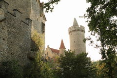 Towers and palace of Kokorin castle Stock Photography