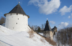 Towers of Pechorsky monastery Stock Image