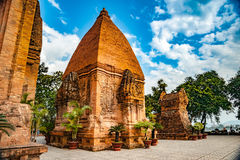 The towers of Po Nagar near Nha Trang in Vietnam Royalty Free Stock Photography