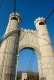 Towers of pont de la Caille stock photos