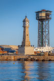 Towers in port of Barcelona, Spain Royalty Free Stock Image
