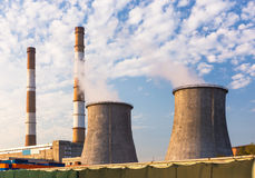 Towers of the power station Royalty Free Stock Photography