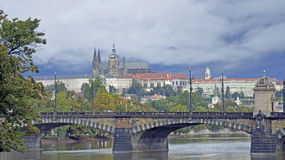 Towers of prague. Old historical towers of prague Royalty Free Stock Images