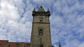 Towers of prague. Old historical towers of prague Royalty Free Stock Photography