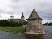 Towers of Pskov castle Royalty Free Stock Photos