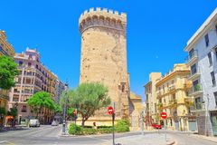Towers of Quart Torres de Quart is one of the twelve gates ,of. Valencia, Spain - June 13, 2017 : Towers of Quart Torres de Quart is one of the twelve gates that Royalty Free Stock Images