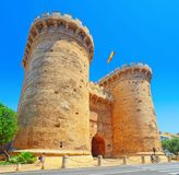 Towers of Quart Torres de Quart is one of the twelve gates ,of. Valencia, Spain - June 13, 2017 : Towers of Quart Torres de Quart is one of the twelve gates that Stock Photos