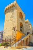 Towers of Quart Torres de Quart is one of the twelve gates ,of. Towers of Quart Torres de Quart is one of the twelve gates that formed part of the ancient city Stock Images