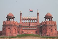 Towers of Red Fort in Delhi Royalty Free Stock Photo