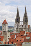 Towers of Regensburg Stock Images