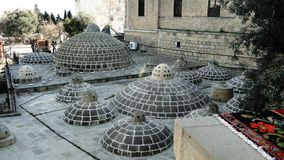 The towers and roofs of the eastern baths of the Middle Ages Royalty Free Stock Images