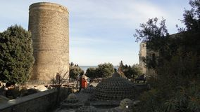 The towers and roofs of the eastern baths of the Middle Ages Royalty Free Stock Photography