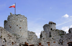 Towers of the ruined castle Stock Photos