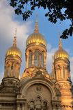 Towers of Russian Orthodox Church Royalty Free Stock Photo