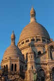 Towers of Sacré Coeur Basilica at Mont Martre in Paris Royalty Free Stock Photos