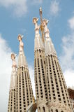 Towers of Sagrada Familia in Barcelona Stock Photography