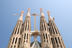 Towers of Sagrada Familia, Barcelona, Spain Royalty Free Stock Photo