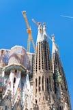 Towers of Sagrada Familia basilica in Barcelona Stock Photography