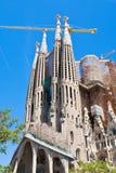 Towers of Sagrada Familia basilica in Barcelona Stock Images